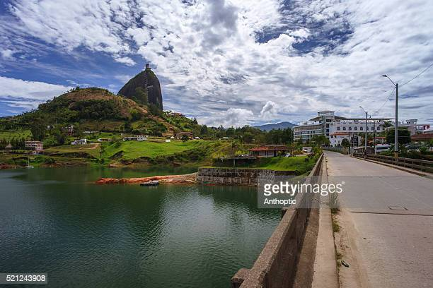 getting to the penon de guatape - guatapé stock pictures, royalty-free photos & images