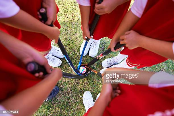 getting together as a team - field hockey stock pictures, royalty-free photos & images