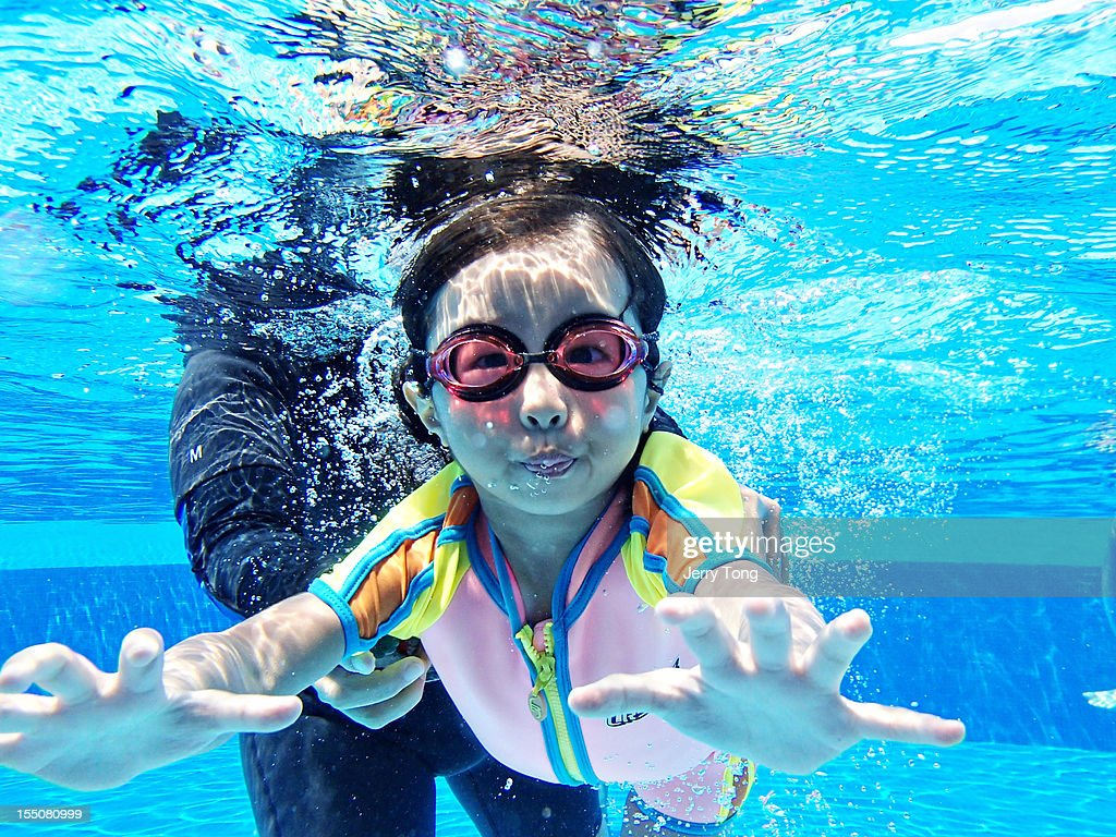 Getting under the water : Stock Photo