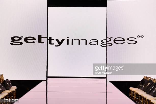 Getty Images logo on the runway during New York Fashion Week Powered by Art Hearts Fashion NYFW September 2019 at The Angel Orensanz Foundation on...