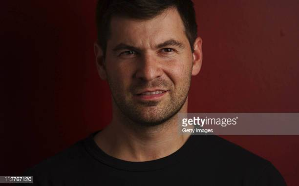 Getty Images photographer Chris Hondros poses for a portrait in a recent but otherwise undated photo Hondros who was on assignment in Misrata Libya...