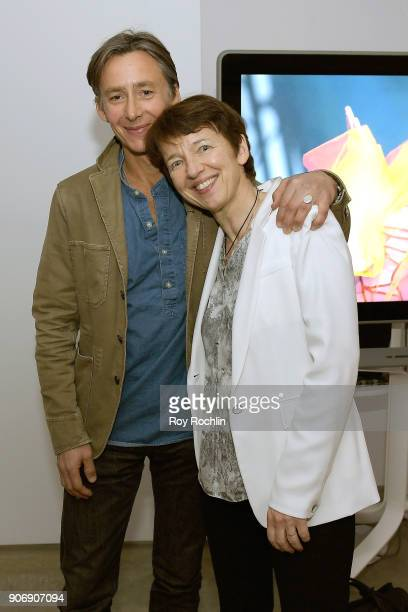 Getty Images photographer Spencer Platt and CEO of Getty Images Dawn Airey attend the Getty Images 2017 Year In Focus client event on January 18 2018...