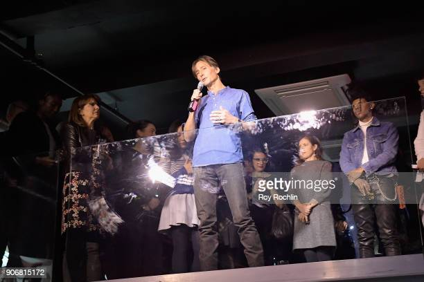 Getty Images photographer Spencer Platt speaks during the Getty Images 2017 Year In Focus client event on January 18 2018 in New York City