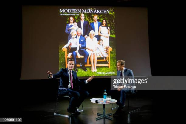 Getty Images Royal Photographer Chris Jackson discusses his book 'Modern Monarchy' with CNN's Max Foster at Victoria & Albert Museum on November 16,...