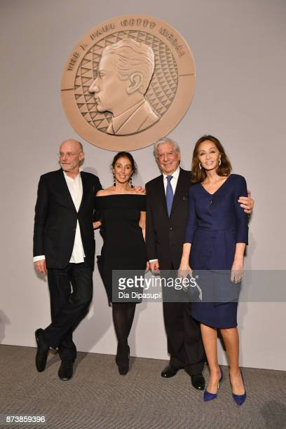Getty Medal Award Recipient Anselm Kiefer Manuela LucaDazio 2017 Getty Medal Award Recipient Mario Vargas Llosa and Isabel Preysler pose for a photo...