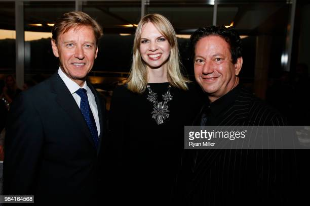 Getty Museum director Tim Potts Kelly Moses and Andy Moses attend Icons of Style A Century of Fashion Photography 19112011 exhibition opening at The...