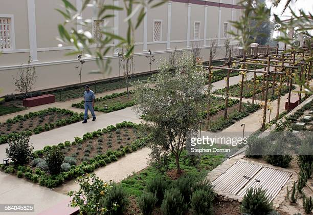 Getty Villa garden and grounds manager Richard Naranjo walks in the herb garden at the villa Naranjo will retire in May
