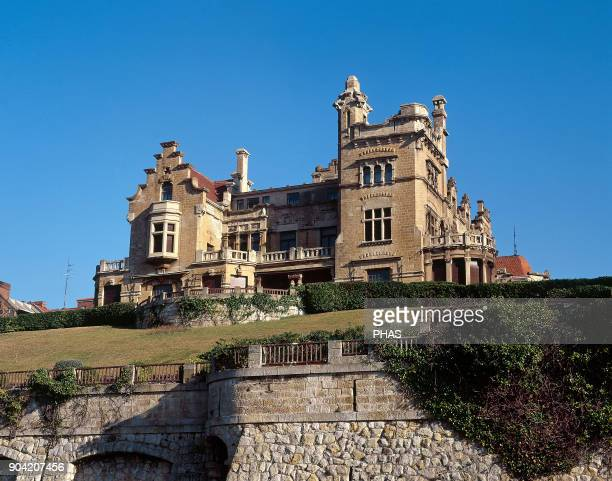 Getxo province of Vizcaya Basque Country Spain Arriluze Palace 1912 Architect Jose Luis Oriol Eclectic style