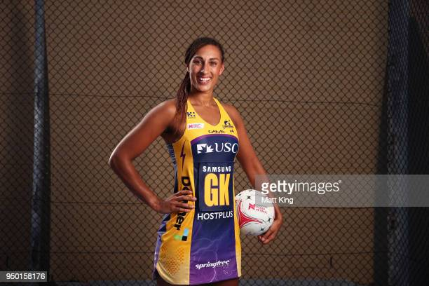 Geva Mentor of the Sunshine Coast Lightning poses during the Suncorp Super Netball 2018 season launch on April 23 2018 in Sydney Australia