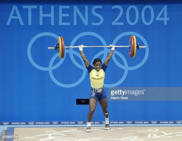 Gewichtheben: Olympische Spiele Athen 2004, Athen; 48-53kg / Frauen; Finale; Mabel MOSQUERA / COL / Bronze 15.08.04.