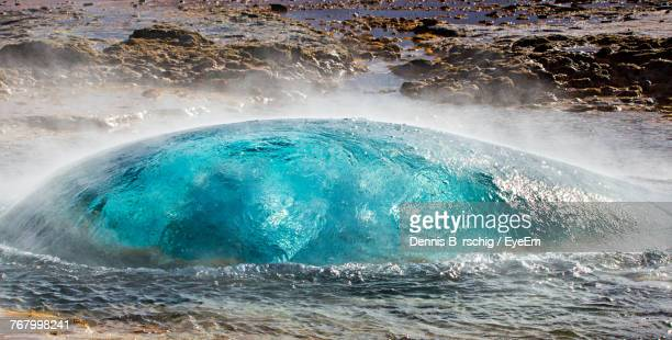 geyser about to erupt - boiling stock pictures, royalty-free photos & images