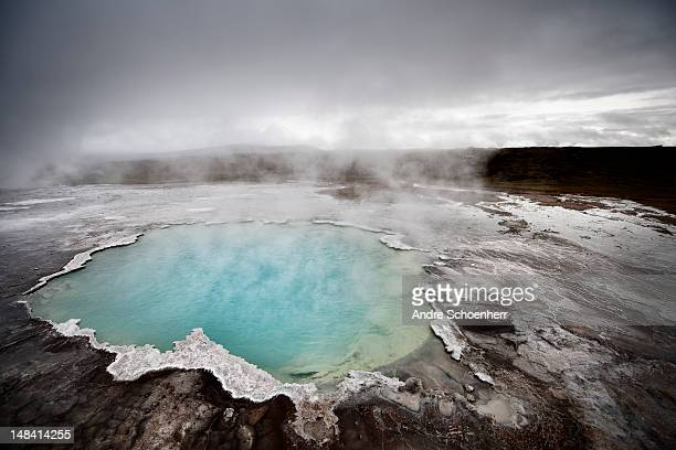 geyser - hot spring stock pictures, royalty-free photos & images