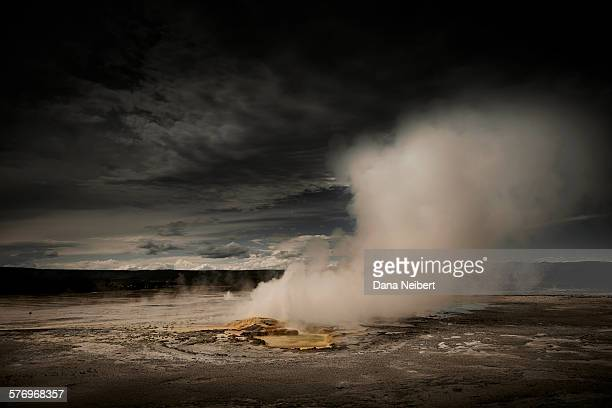 a geyser pool in yellowstone - dana barron stock photos and pictures