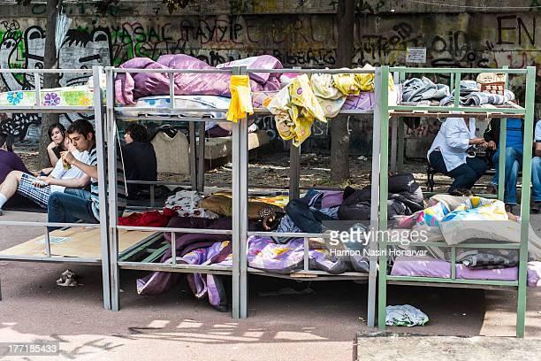 Gezi Park Sleeping beds during Occupy Gezi