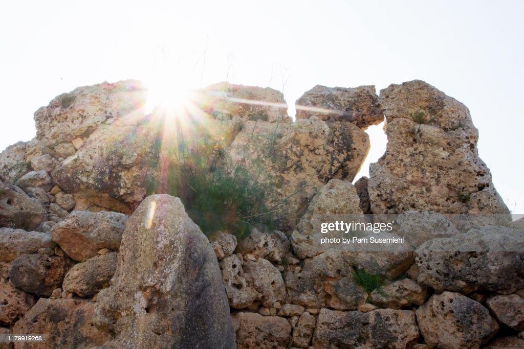 Ggantija Megalithic Temple, Malta : Stock Photo