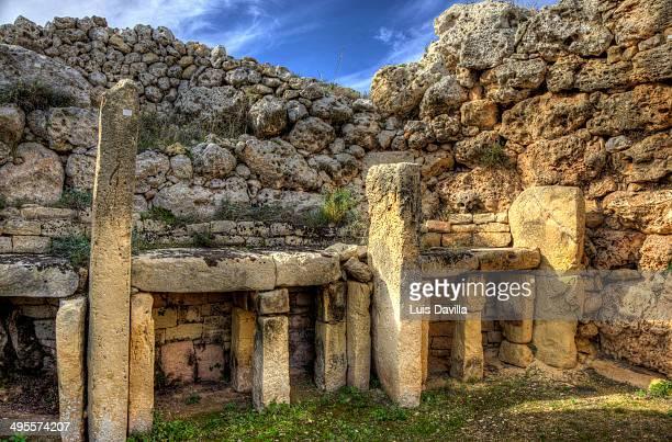 Ggantija neolithic temples in Gozo island, Malta