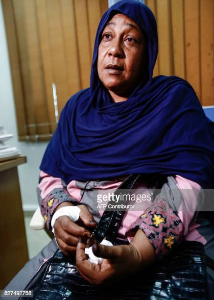 Ghada Mohammed Ali a Sudanese breast cancer patient speaks as she waits at an examination room in the Khartoum Breast Care Centre in the capital...