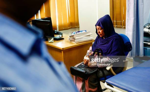 Ghada Mohammed Ali a Sudanese breast cancer patient waits at an examination room in the Khartoum Breast Care Centre in the capital Khartoum on July...