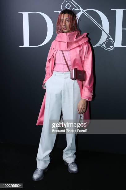 Ghali attends the Dior Homme Menswear Fall/Winter 2020-2021 show as part of Paris Fashion Week on January 17, 2020 in Paris, France.