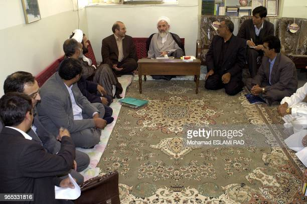 Ghalibaf meeting with Imam of Friday Prayers of Shiites Muslems