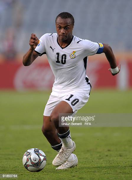Ghana captain Andre Ayew during the FIFA U20 World Cup Semi Final match between Ghana and Hungary at the Cairo International Stadium on October 13...