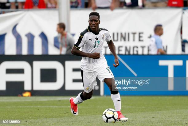 Ghana defender Lumor Agbenyenu during an international friendly between the United States and Ghana on July 1 at Pratt Whitney Stadium at Rentschler...