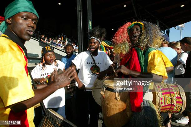 Ghana fans before Group D match in which Ghana defeats Australia 21 at PGE Park in Portland Oregon