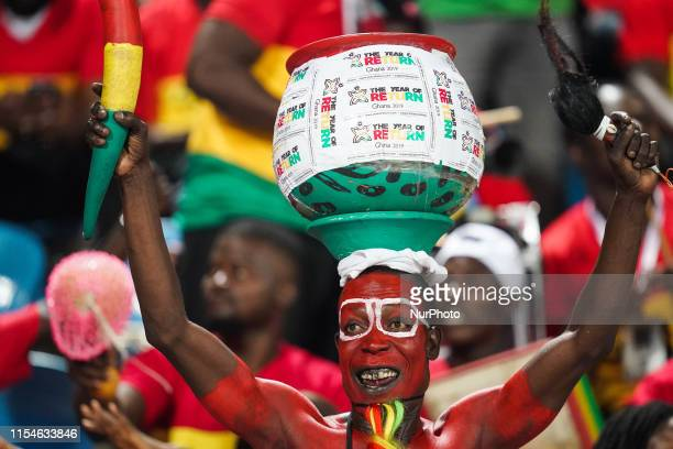 Ghana fans before the 2019 African Cup of Nations match between Ghana and Tunisia at the Ismailia Stadium in Ismailia, Egypt on July 8,2019.