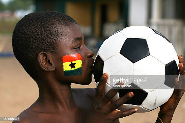 ghana football fan - ghana stock pictures, royalty-free photos & images