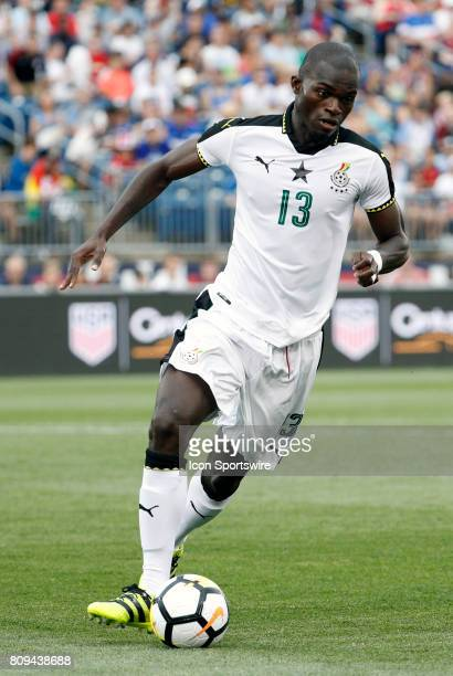 Ghana midfielder Isaac Sackey dribbles the ball during an international friendly between the United States and Ghana on July 1 at Pratt Whitney...