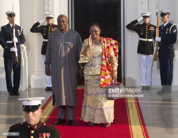 Ghana President John Mahama arrives at the White House for a group dinner during the US Africa Leaders Summit August 5 2014 in Washington DC AFP...