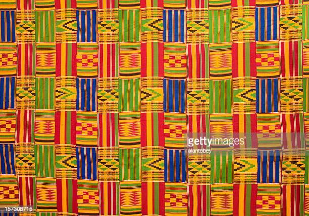 Ghana : Kente tissu traditionnel (grand panneau