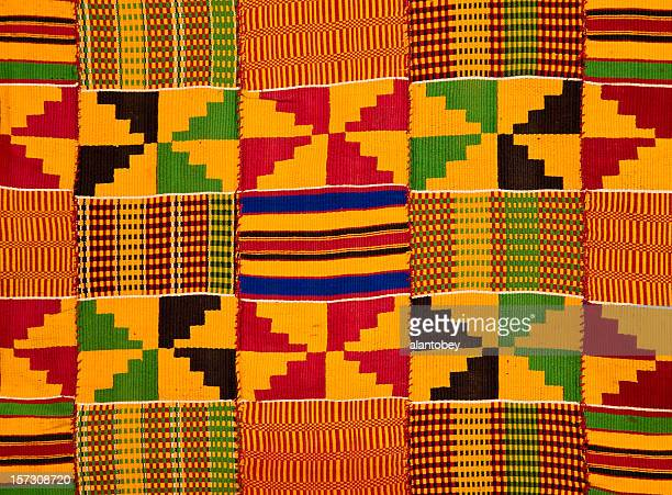 Ghana: Traditionelle Kente Tuch (Grenze detail