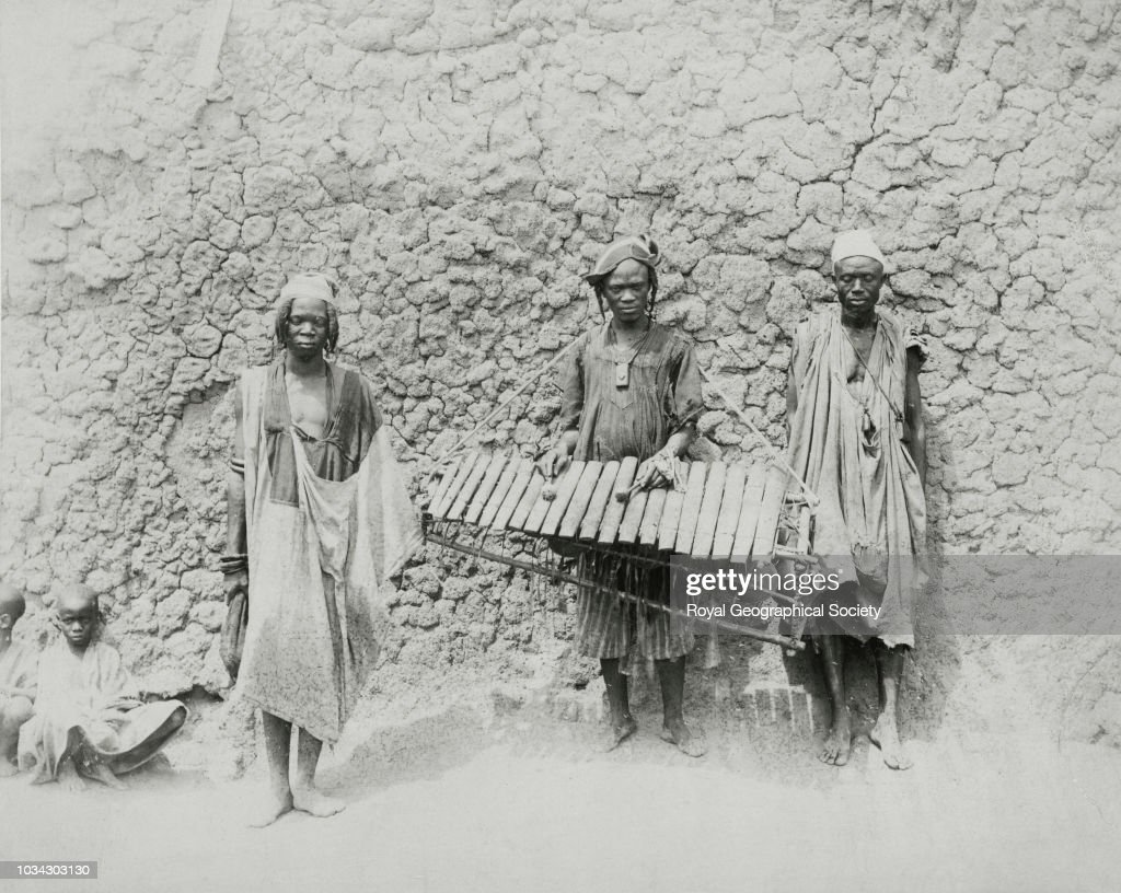 Ghanaan musical instruments, Ghana, circa 1890  News Photo