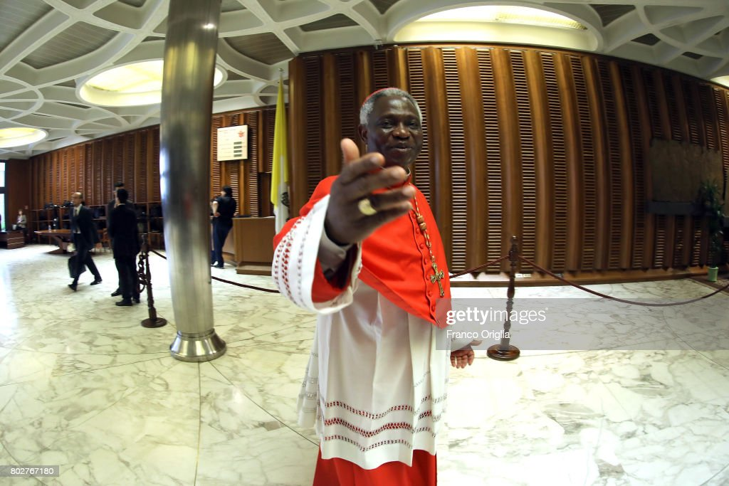 Ghanaian cardinal Peter Turkson attends the courtesy visits at the Paul VI Hall on June 28, 2017 in Vatican City, Vatican. Pope Francis installed 5 new cardinals during the Consistory ceremony.