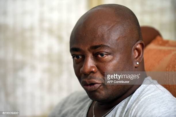 Ghanaian football legend Abedi Ayew known professionally as Abedi Pele speaks about his career at his home in Accra on July 13 2017 Former skipper of...