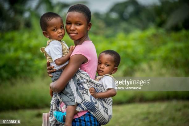 Ghanaian Woman at Health Clinic