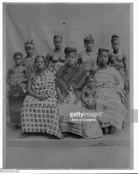 Ghanaian Women and Girls in Traditional Dress
