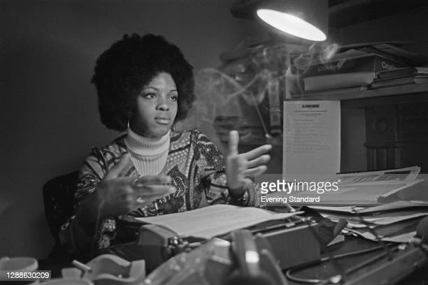 Ghanaian-born publisher, editor and writer Margaret Busby, co-founder of British publishing house Allison & Busby , UK, 1971.
