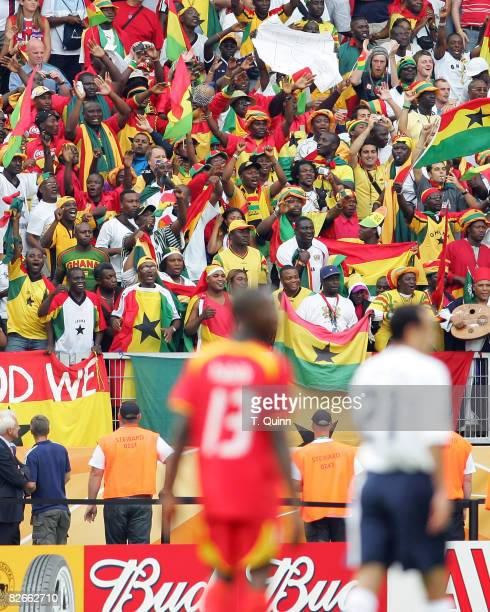 Ghanain fans at the end of the Group E game between the USA and Ghana at FrankenStadion in Nuremberg Germany on June 22 2006 Ghana won 21 and...