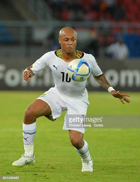 Ghana's Andre Ayew during the 2015 Orange Africa Cup of Nations Final soccer match Ivory Coast vs Ghana at Bata stadium in Bata Equatorial Guinea on...