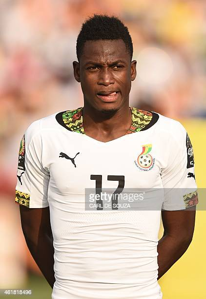 Ghana's defender Abdul Rahman Baba poses ahead of the 2015 African Cup of Nations group C football match between Ghana and Senegal in Mongomo on...