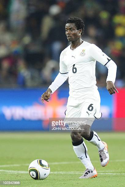 Ghana's midfielder Anthony Annan runs with the ball during the Group D first round 2010 World Cup football match Germany versus Ghana on June 23 2010...