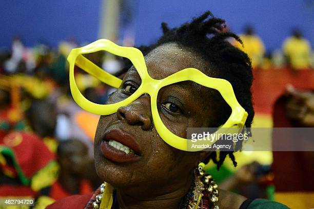Ghana's supporters cheer their team ahead of the 2015 African Cup of Nations semifinal football match between Equatorial Guinea and Ghana in Malabo...