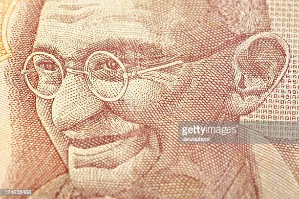 En billete de banco de Gandhi