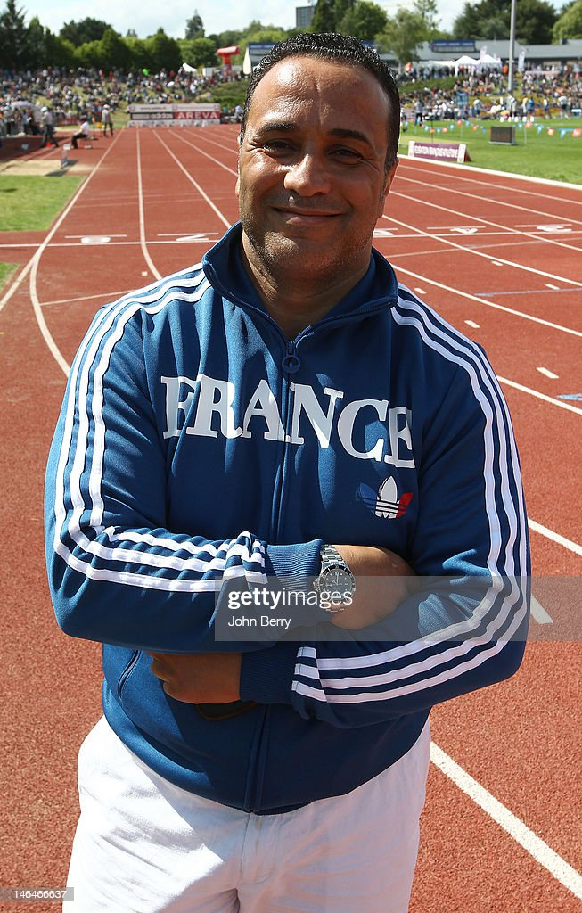 Ghani Yalouz of France poses during the 2012 French Elite Athletics Championships at the Stade du Lac de Maine on June 16, 2012 in Angers, France.