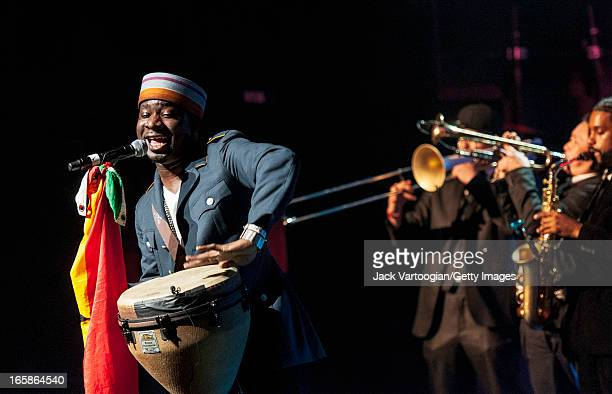 Ghanian-born American hip-hop musician Blitz the Ambassador performs at the Apollo Theater & World Music Institute's 'Africa Now!' concert in Harlem,...