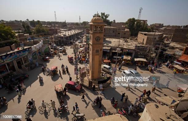 ghanta ghar of shikarpur - pakistani culture stock photos and pictures