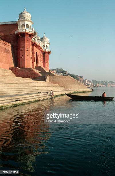 Ghat Along Ganges River