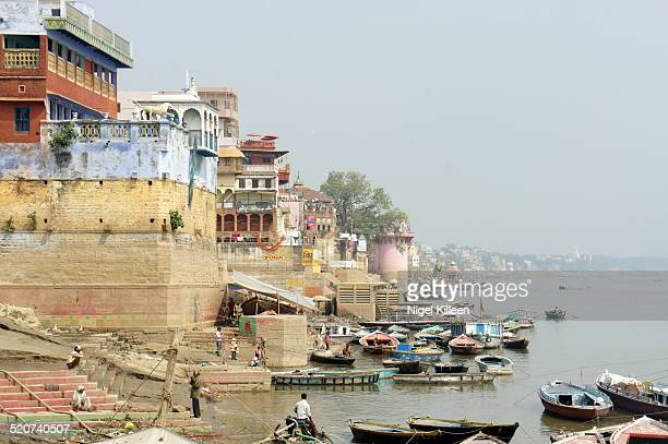 Ghats along the banks of the river Ganges